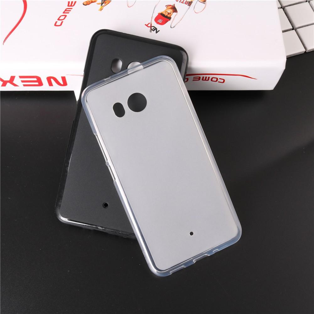 Ốp lưng silicon mờ vân cát HTC U11