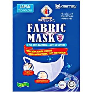 KHẨU TRANG VẢI KHÁNG KHUẨN DOMESCO FABRIC MASK ( Chính hãng) Túi 5 chiếc- Hiệu quả kháng khuẩn, kháng UV 30 lần giặt
