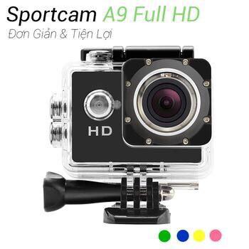 Xả Kho  Camera hành trình HD 1080 Sport Cam A9, Máy Ảnh, Máy quay phim tốc độ Full HD 1080P