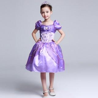 Váy Công chúa Tóc mây Rapunzel ngắn cách điệu
