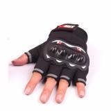 Găng tay/bao tay hở ngón đi phượt có gù bảo hộ