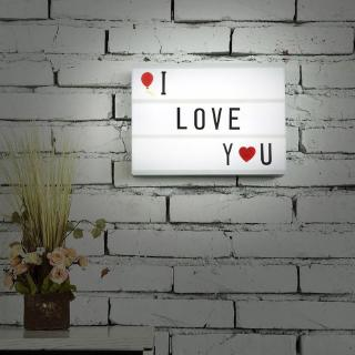 A5 Size Mini Magnetic 7 Colors Light LED Message Box With 90 Letters Numbers Control Decorations