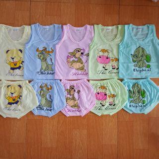 Set 5 bộ quần áo cộc tay cho bé, bộ cộc tay cho bé, bộ cảm xúc cho bé, quần áo cho bé, bộ quần áo cộc cho bé