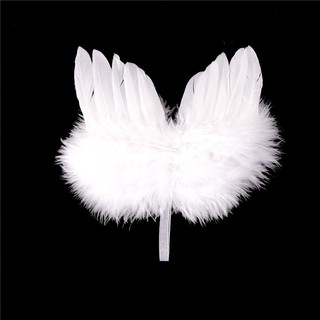 KJ♠ Infant born Boy Girl Fairy Feather Pure white Angel Wings Decor