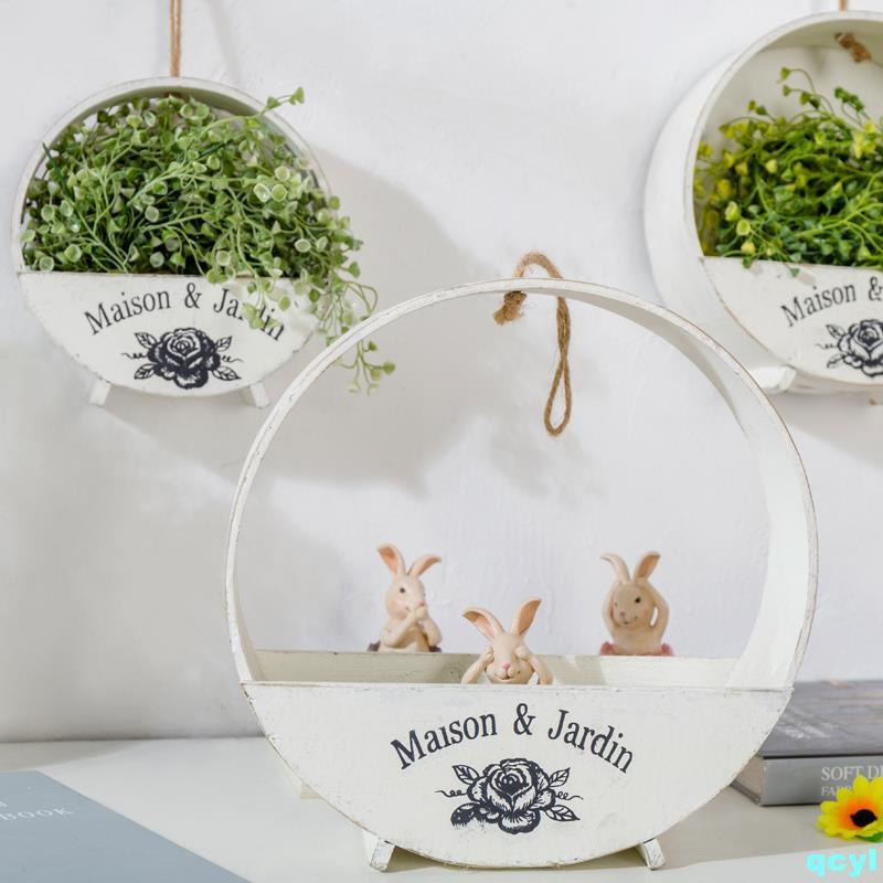 Creative garden wall hanging flower basket clothing store te