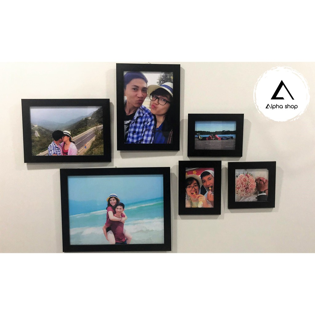 [FREE in ảnh] Bộ 6 khung ảnh treo tường trang trí nhà giá rẻ (M02)