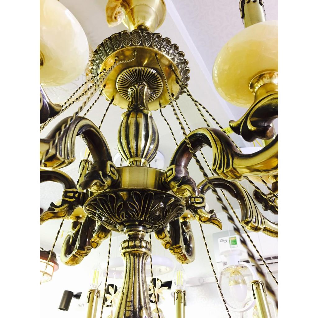 Bộ Đèn Chùm Đồng chao đá 18 tay DC9231-18+ Bộ bóng LED 800.000đ