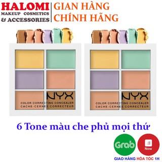 Bảng Che khuyết điểm Tạo khối NYX 6 ô Professional Makeup chính hãng đầy đủ các tone màu thumbnail