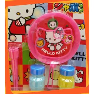 [Giá Cực Tốt] Bộ thổi bong bóng xà phòng Hình Mèo Kitty