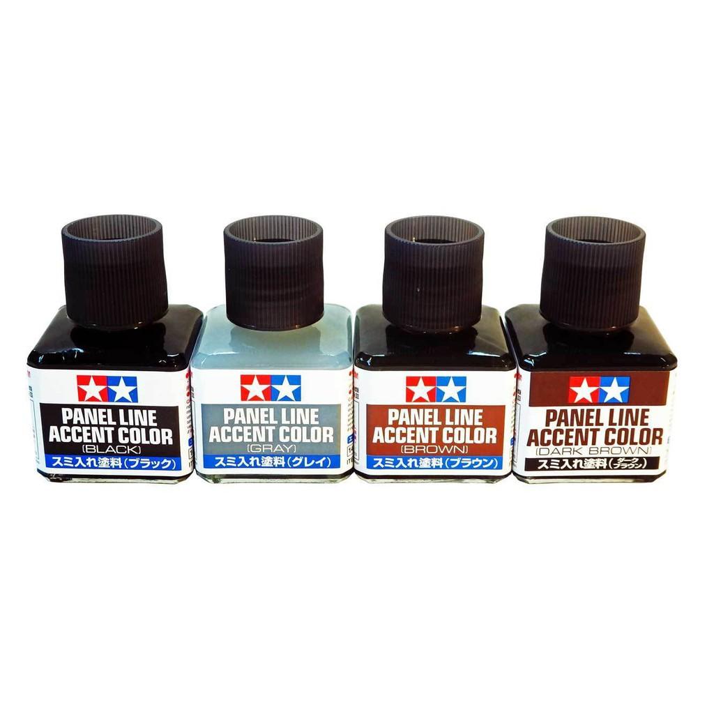 Dung Dịch Kẻ Lằn Chìm Tamiya Panel Line Accent Color Black/Brown/ Dark Brow 40ml