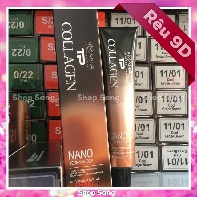 Thuốc Nhuộm Rêu Collagen Nano 9D + Kèm Trợ Dưỡng Oxy