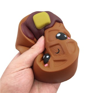 12cm Silly Brownie Squishies Slow Rising Squeeze Scented Stress Reliever Toy