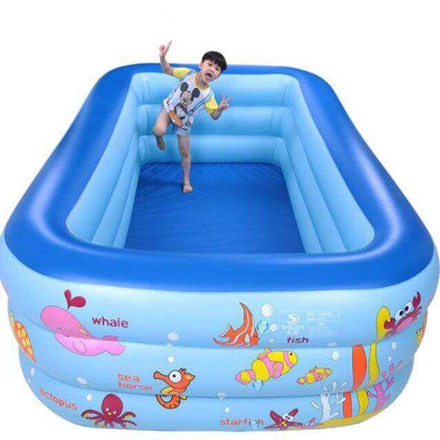 Phao bơi vuông 3 tầng 2m1
