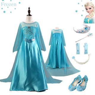 Bộ đầm Công Chúa Elsa Cho Bé Gái