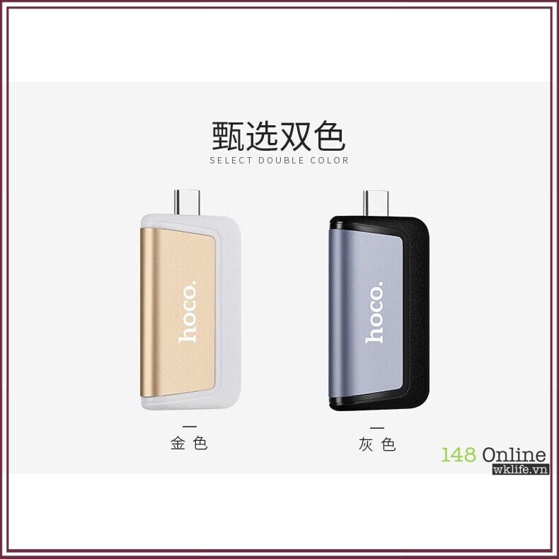 [Giá Cực Đã] Đầu Chuyển OTG USB Type C Sang USB 3.0 Hoco HB4   Hỗ Trợ Thẻ Nhớ SD / TF _ Tiện dụng