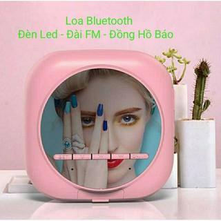 [Mẫu Mới Nhất 2020]Loa Bluetooth Q12 Đài FM Tích Hợp Đồng Hồ Báo Đài FM Màn Hình Tráng Gương