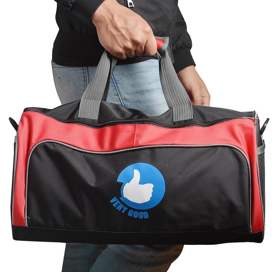 Túi trống thể thao cỡ lớn Vrg1310- MS1- đen phối đỏ