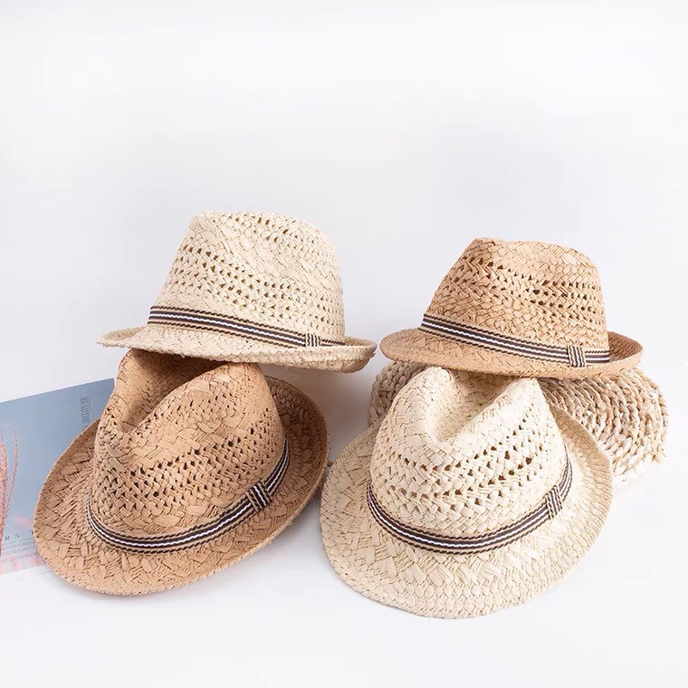Mũ Cói Cho Bé - Mũ cói mùa hè cho bé trai từ 2-8 tuổi phong cách cao bồi siêu xinh mẫu mới nhất MC04