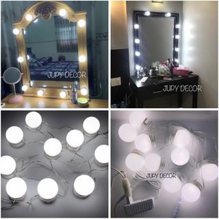 [SẴN 6B / 10B / 14B] Đèn dán gương trang điểm / đèn gương / đèn led dán gương bằng keo 2 mặt không cần khoan đục lỗ