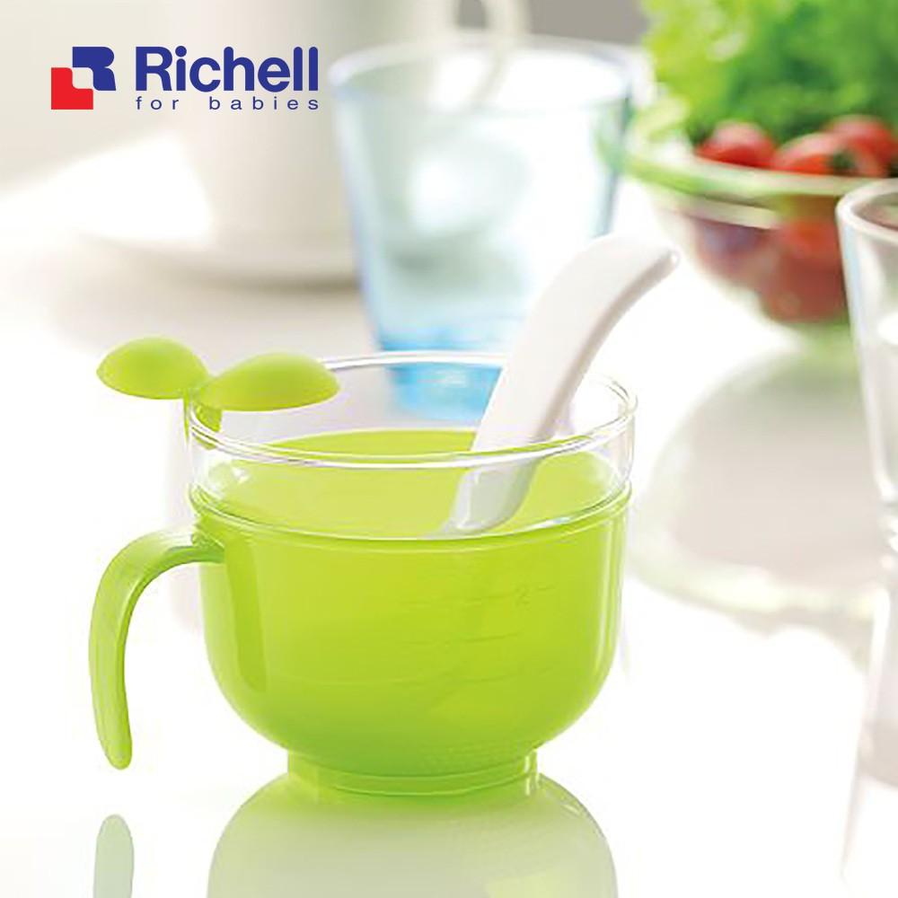 Richell- Bộ nấu cháo/cơm nát trong nồi cơm điện màu xanh 18871