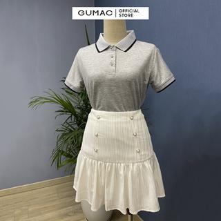 Hình ảnh Áo thun polo nữ, xẻ lai GUMAC đủ màu đủ size, thiết kế basic ATB109-6