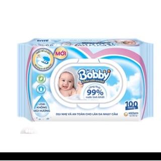 Khăn ướt Bobby 100 tờ cao cấp thumbnail