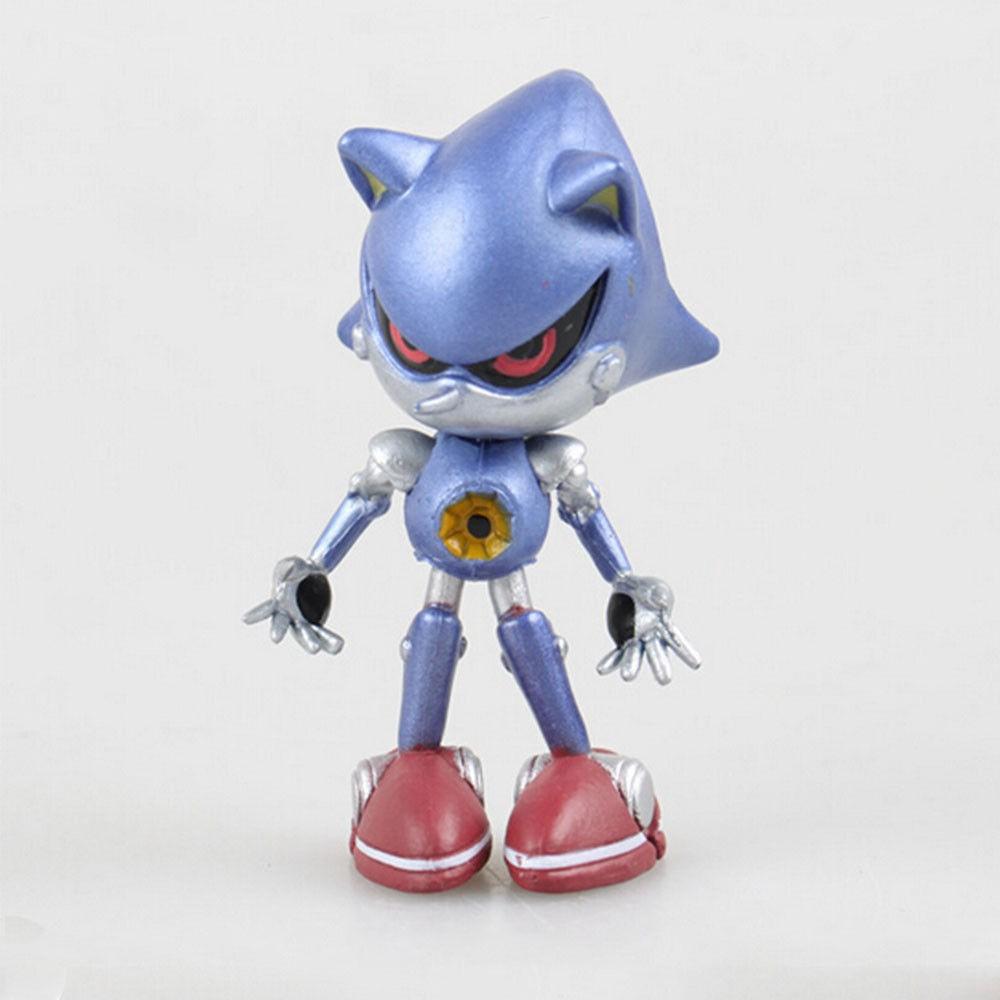 6pcs/set Super Sonic The Hedgehog Action Figure Toy for Kids