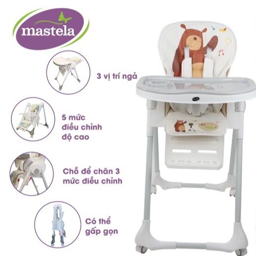 Ghế ăn dặm đa năng cho bé Mastela 1015 có 5 mức...
