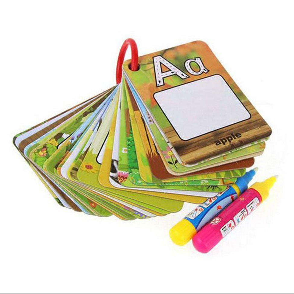 Water Drawing Card Letter Number Card Cognitive Painting Board Educational Toy