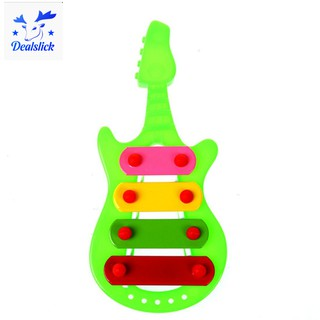 🌸Kid 4-Note Guitar knock piano Musical Toys Serinette