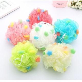 Bông tắm tròn vải lưới mềm mại cao cấp, bông tắm tạo bọt Hàn Quốc đẹp rẻ tiệ thumbnail