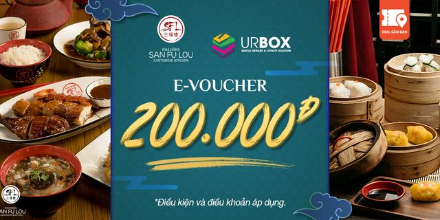 """E-Voucher San Fu Lou trị giá 200.000đ giá chỉ còn <strong class=""""price"""">18.900.000.000đ</strong>"""