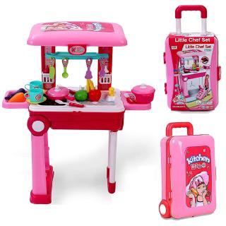 /Vui chơi thỏa thích /Vali bếp to cho bé Kitchen Set (có đèn, âm thanh)