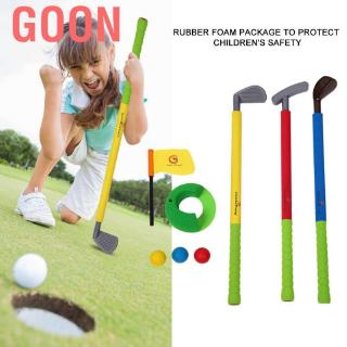 Goon Color box packaging Outdoor Plastic Golf Sport Kit Children Game Tool Set With Clubs And Ball Sport& Fitne