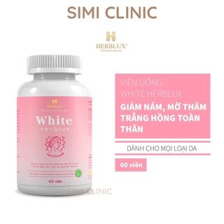 Viên uống trắng da Herblux White chống lão hóa trắng hồng đẹp da mặt body toàn thân giảm thâm nám glutathione collagen thumbnail