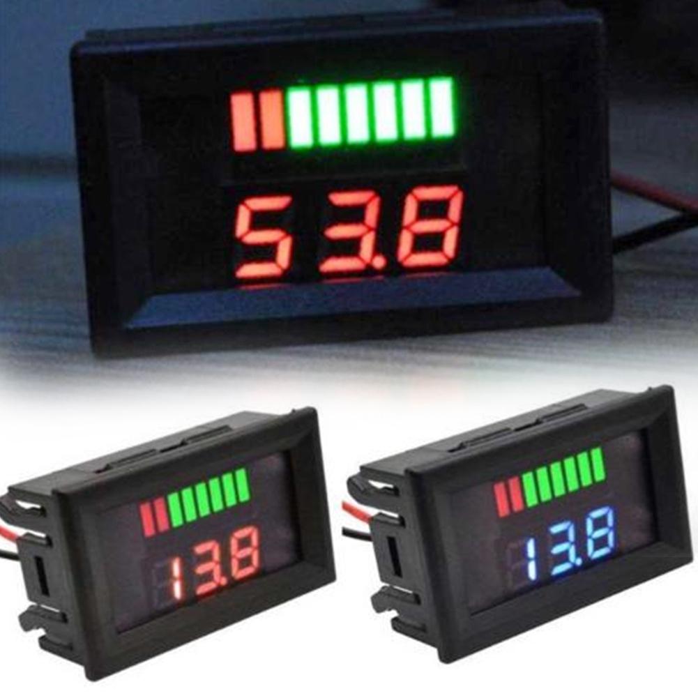 Portable Meter Universal Battery Gauge Tester Digital Auto Accessories Voltmeter Led Test Car Motorcycle Dual Display