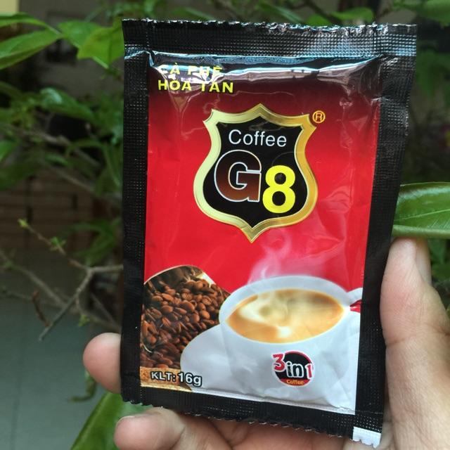 Cà phê sữa hoà tan G8 dây 10 gói ( 16g/gói) - 2867088 , 957301245 , 322_957301245 , 25000 , Ca-phe-sua-hoa-tan-G8-day-10-goi-16g-goi-322_957301245 , shopee.vn , Cà phê sữa hoà tan G8 dây 10 gói ( 16g/gói)