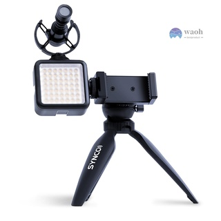 Bộ Thiết Bị Đồng Bộ Vlogger Vlogger Đồng Bộ Với 2 Đèn Led Mini Cho Điện Thoại