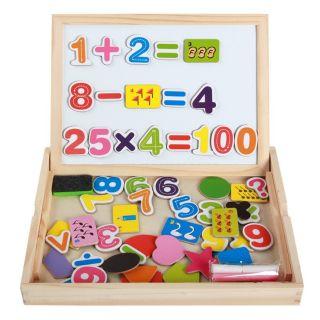 Bảng gỗ ghép hình toán học ndm châm 2 mặt