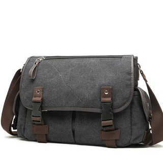 Túi đeo chéo vải bố 4Y tiện dụng VN292 (đen) – Đi học Đi Làm