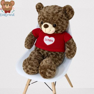 Gấu Bông Cao Cấp Teddy Áo Len Hình Tim Size 80cm [ Diabrand ]