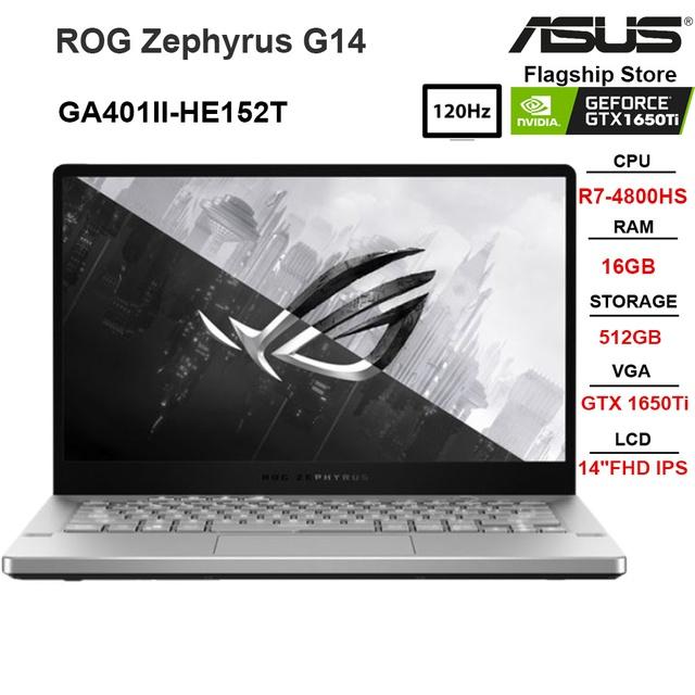 "Laptop ASUS ROG Zephyrus G14 GA401II-HE152T R7-4800HS |16GB|512GB |GTX1650Ti I14""FHD IPS|W10"