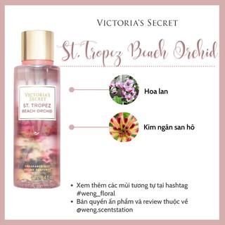 Xịt thơm toàn thân Victoria's Secret mùi St. Tropez Beach Orchid
