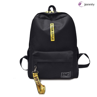 ✨JNY✨ Women Canvas Backpack Letters Printing Zipper Ribbon Children Kids Student School Shoulder Bag