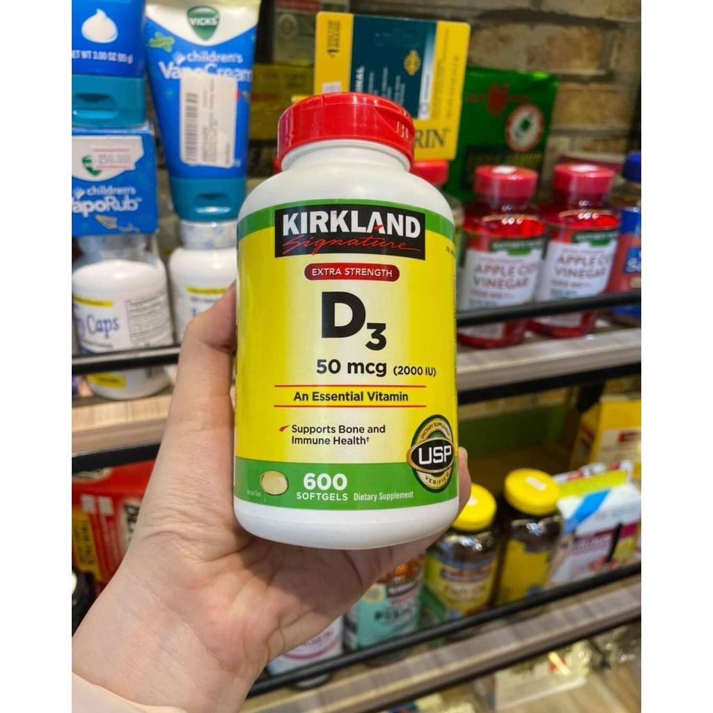 Viên Bổ Sung Vitamin D3 Kirkland 50mcg