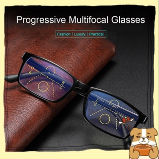 🌟YEW🌟 Men Women Fashion Progressive Presbyopic Eyewear Radiation Protection Multifocal Bifocal Eyeglasses Anti Blue Light Reading Glasses Anti-UV Anti-blue Rays Anti-fatigue Retro Classic Computer Goggles/Multicolor