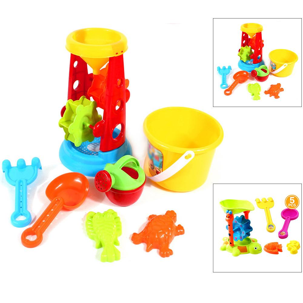 Beach Sand Play Toys Set Children Kids Seaside Bucket Shovel Rake Toy Kit
