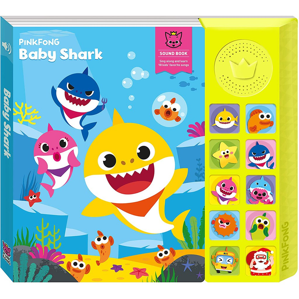 Đồ chơi sách nhạc Soundbook Pinkfong hàng chính hãng-Baby Shark,Dinosaur Songs,Car Songs,Kid's Favorite Songs,Animal Son