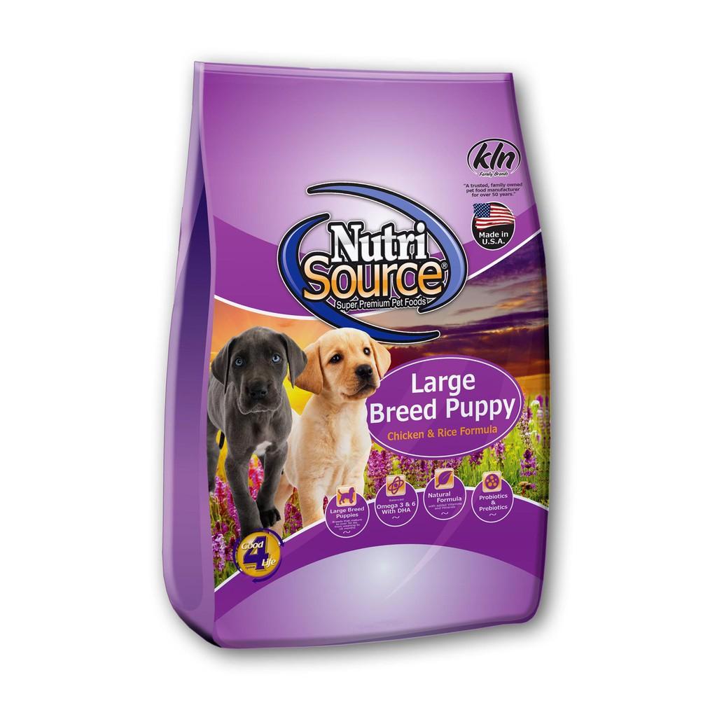 Thức ăn cho chó vị gà + gạo lứt (142g/gói) | NUTRISOURCE LARGE BREED PUPPY CHICKEN & RICE