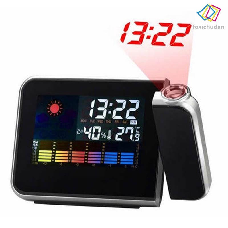 Đồng hồ báo thức có đèn LED hiển thị dự báo thời tiết